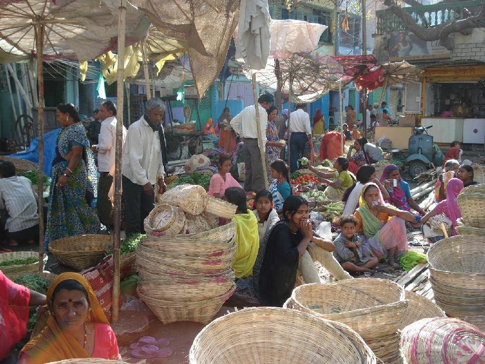 Indian Market Baskets at an Indian Market