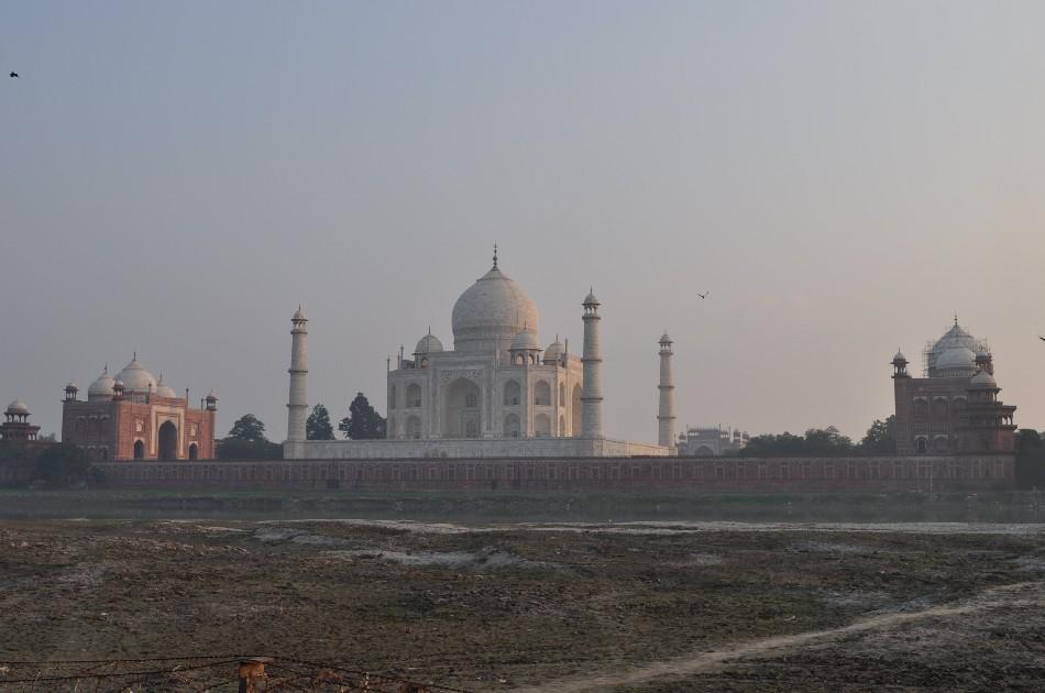 Taj Mahal from River Yamuna